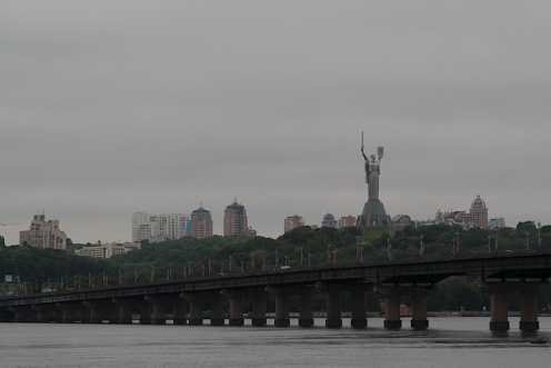Mother Motherland statue watches over Kyiv